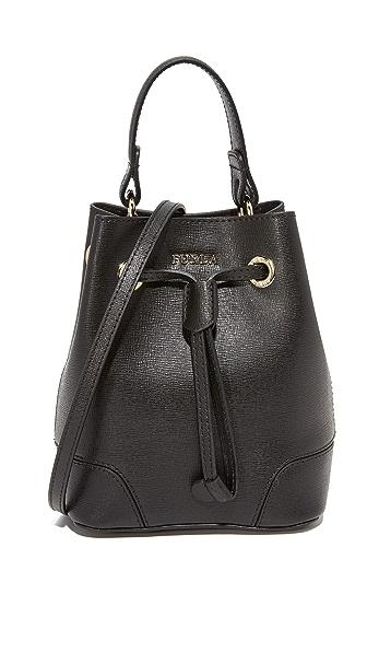 Furla Stacy Mini Drawstring Bag - Onyx