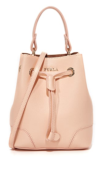 Furla Stacy Mini Drawstring Bag - Rosa Chiaro