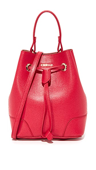 Furla Stacy Mini Drawstring Bag - Ruby
