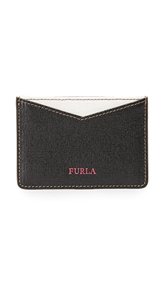 Furla Gioia Card Holder - Onyx/White