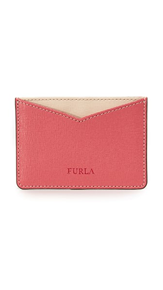 Furla Gioia Card Holder - Rose/Beige