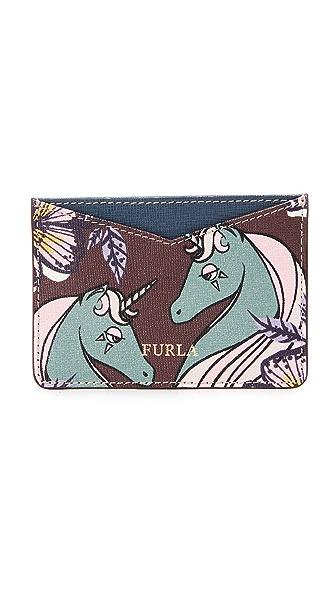 Furla Printed Gioia Card Holder - Multi