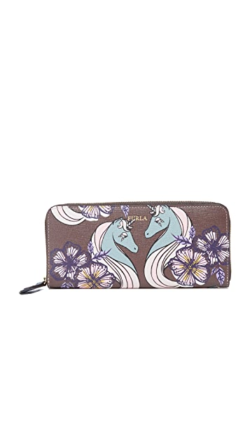 Furla Gioia Zip Around Continental Wallet