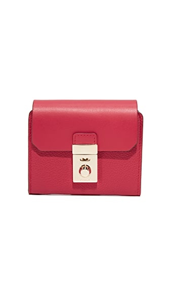 Furla Peggy Small Wallet In Ruby