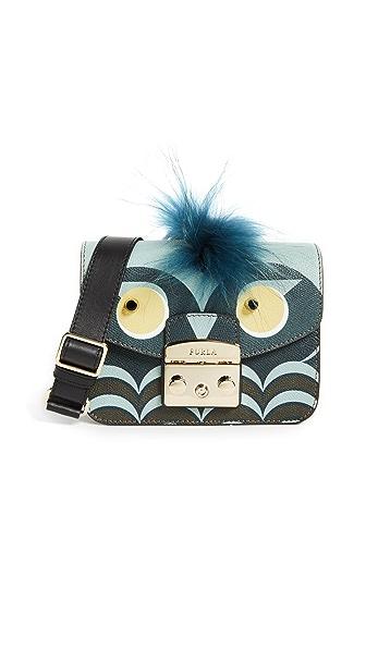 Furla Metropolis Jungle Mini Cross Body Bag In Toni Blu