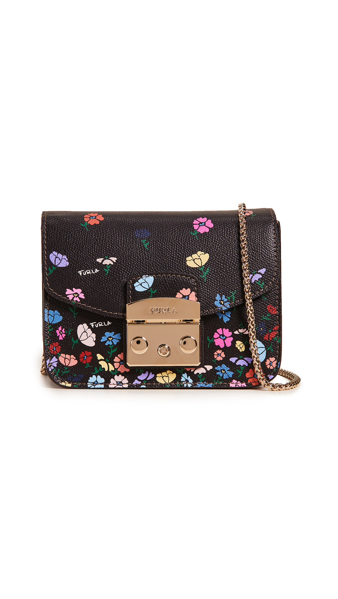 Furla Metropolis Mini Flower Cross Body Bag