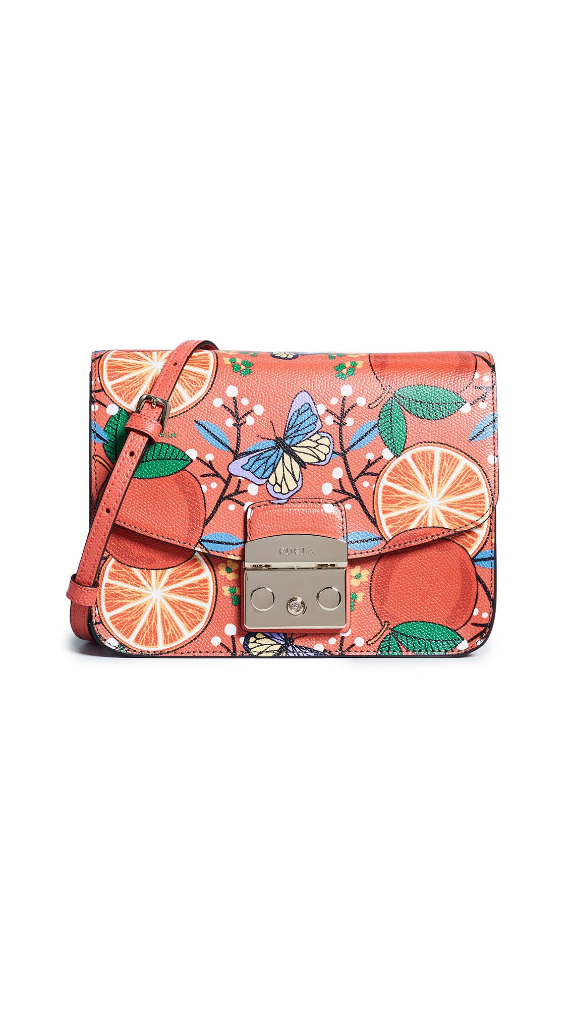 Furla Metropolis Small Orange Cross Body Bag