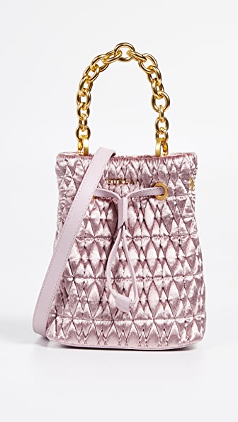 Stacy Cometa Mini Drawstring Bag in Rosa