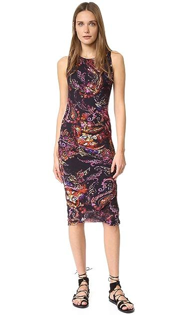 Fuzzi Sleeveless Paisley Dress