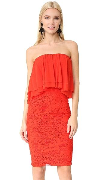 Fuzzi Strapless Dress - Fiamma