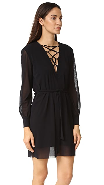 Fuzzi Laced V Neck Dress