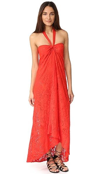 Fuzzi Halter Long Dress