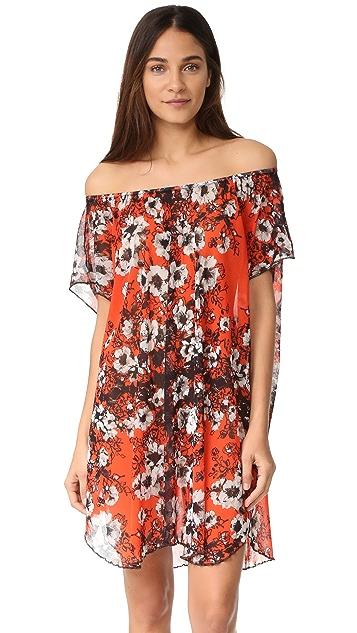 Fuzzi Floral Off the Shoulder Dress