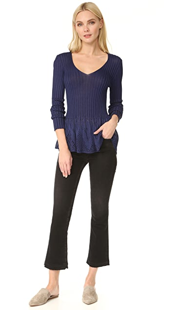 Fuzzi V Neck Sweater