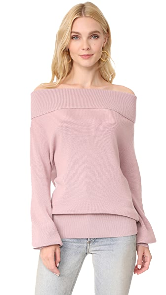 Fuzzi Off Shoulder Top - Light Pink