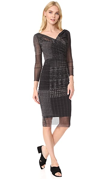 Fuzzi Stampa Fitted Dress