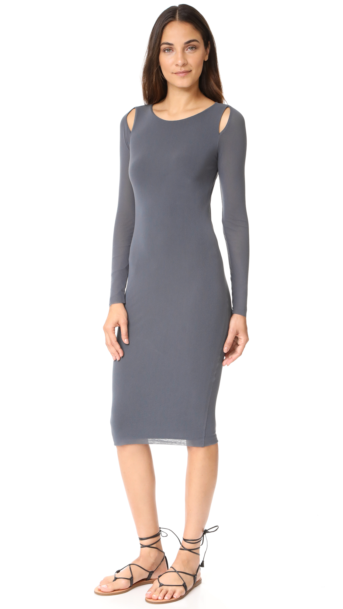 Fuzzi Long Sleeve Dress
