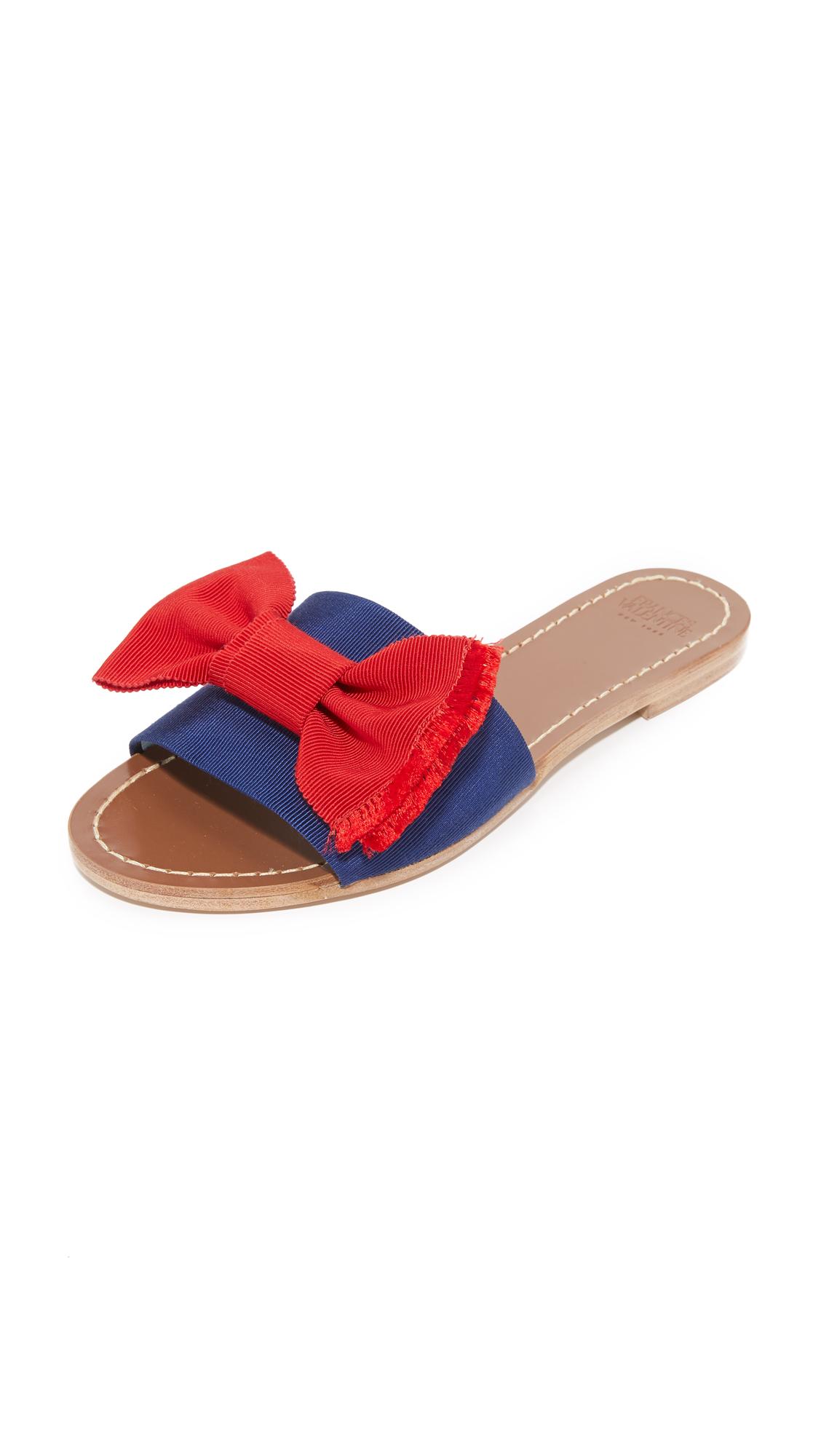 Photo of Frances Valentine Judy Bow Slides Blue-Red - Frances Valentine online