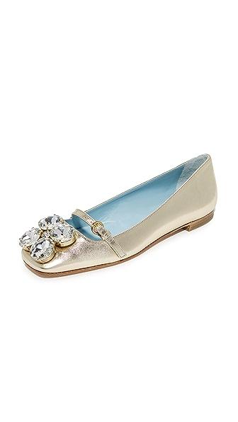 Frances Valentine Josephine Embellished Flats - Gold