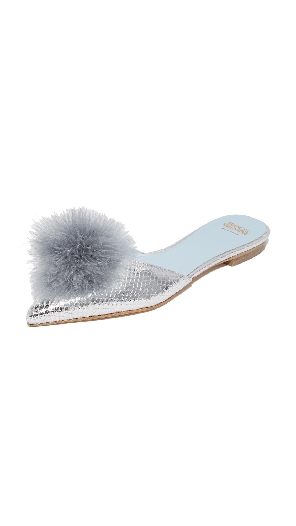 Frances Valentine Pauline Mule Slides - Silver