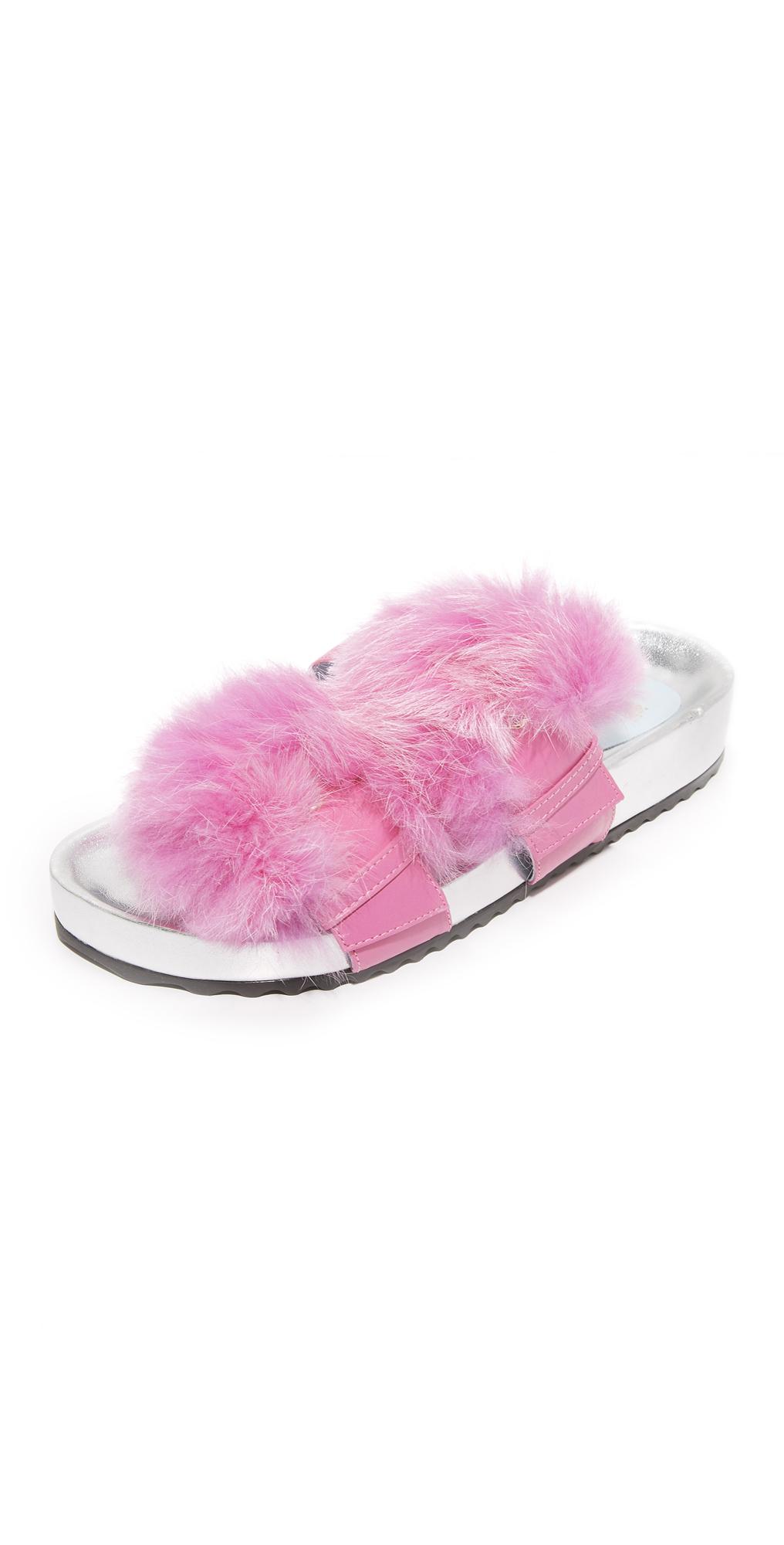 Marie Fur Slides Frances Valentine