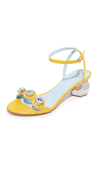 Frances Valentine Beatrix Jeweled City Sandals