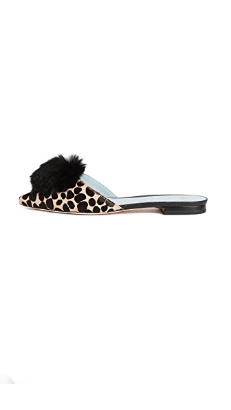Frances Valentine Pauline Haircalf Mule Slides In Cheetah
