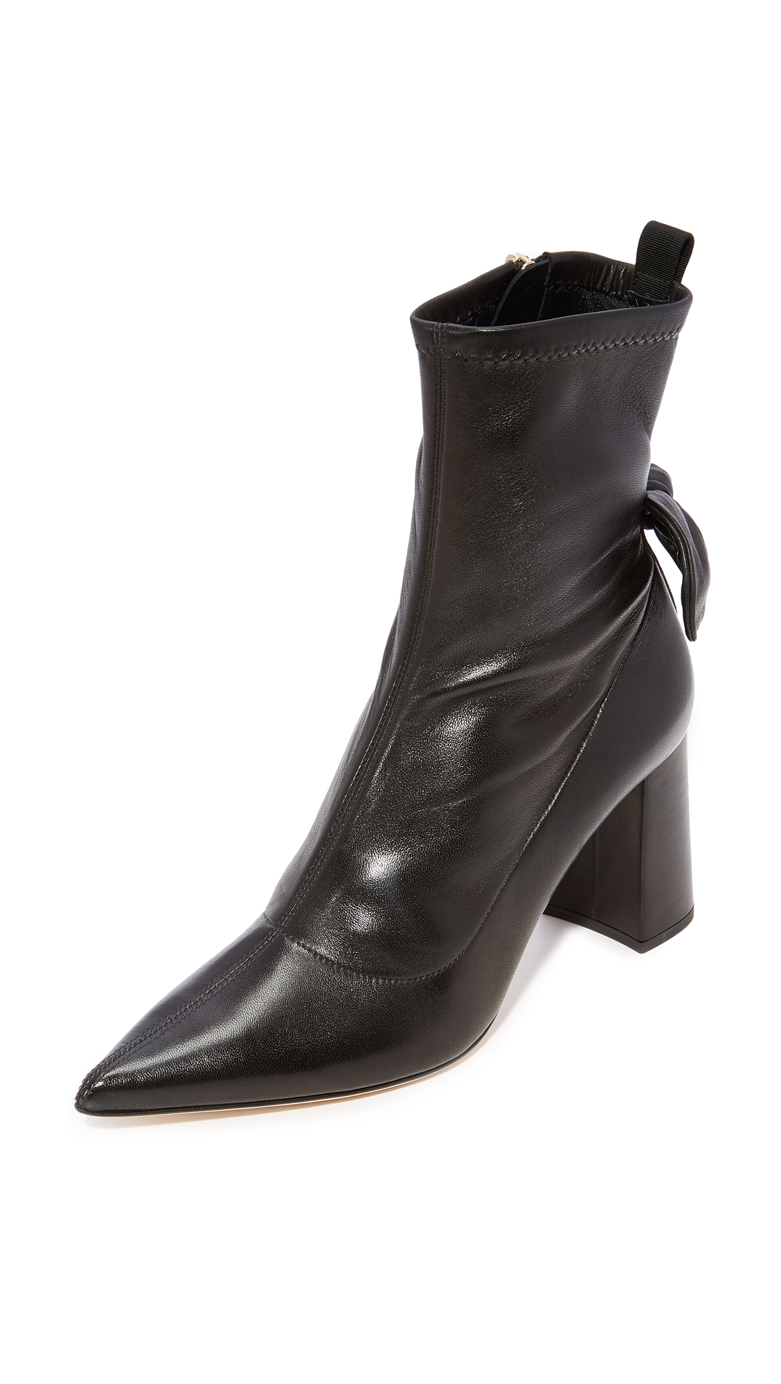 Frances Valentine Valerie Bow Booties - Black