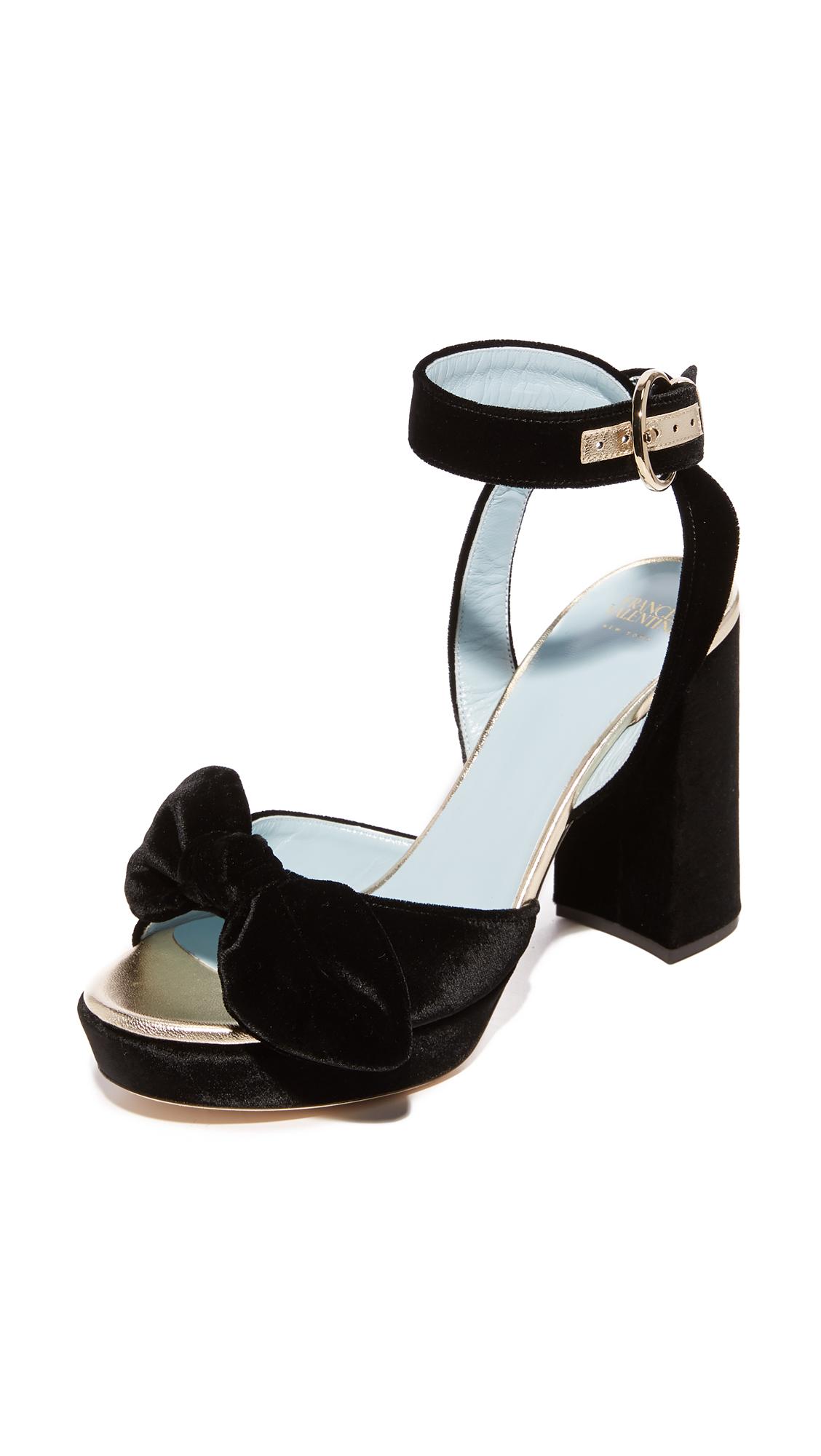 Frances Valentine Tilda Platform Sandals - Black