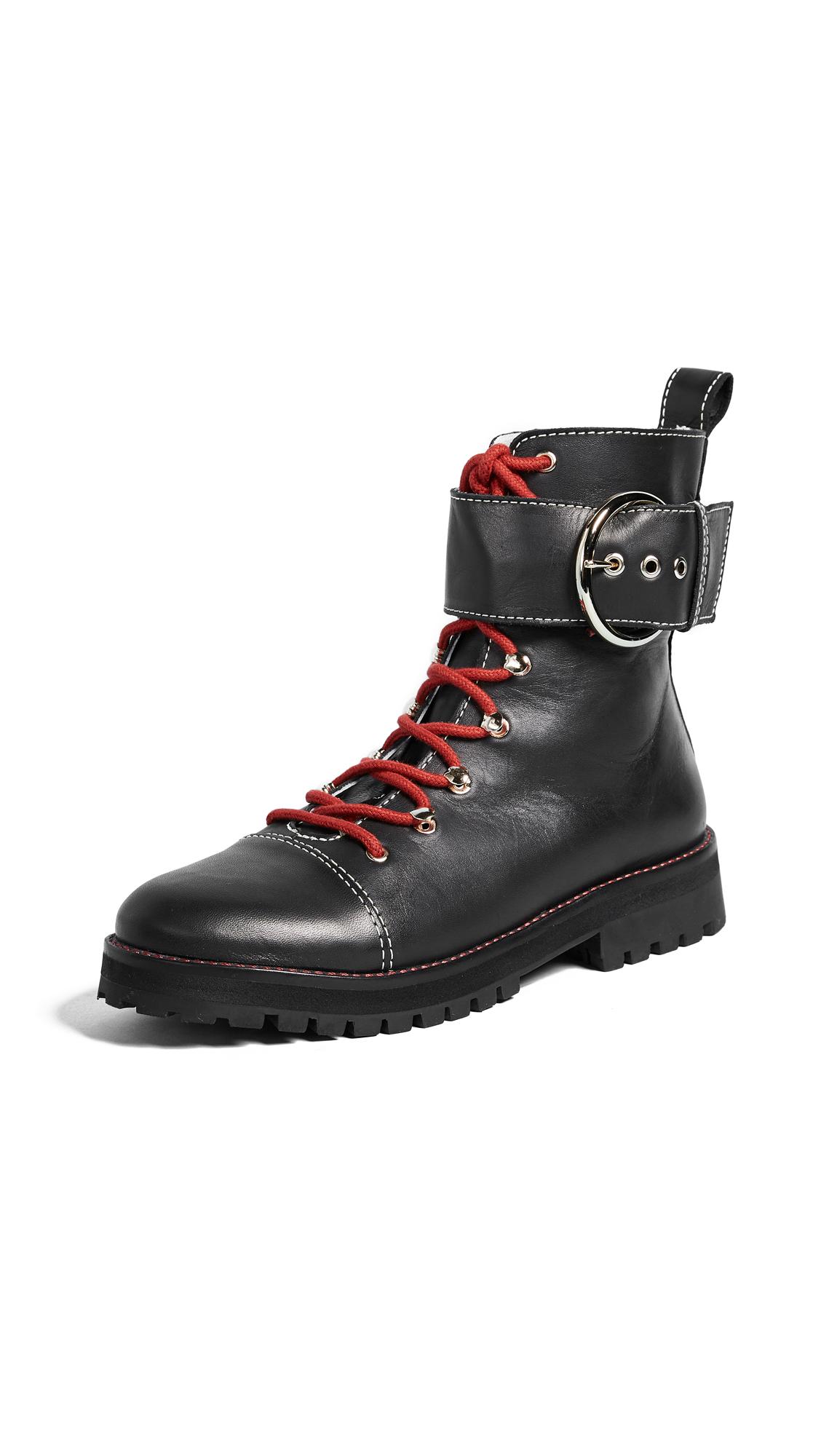 Frances Valentine Sonny Combat Boots - Black