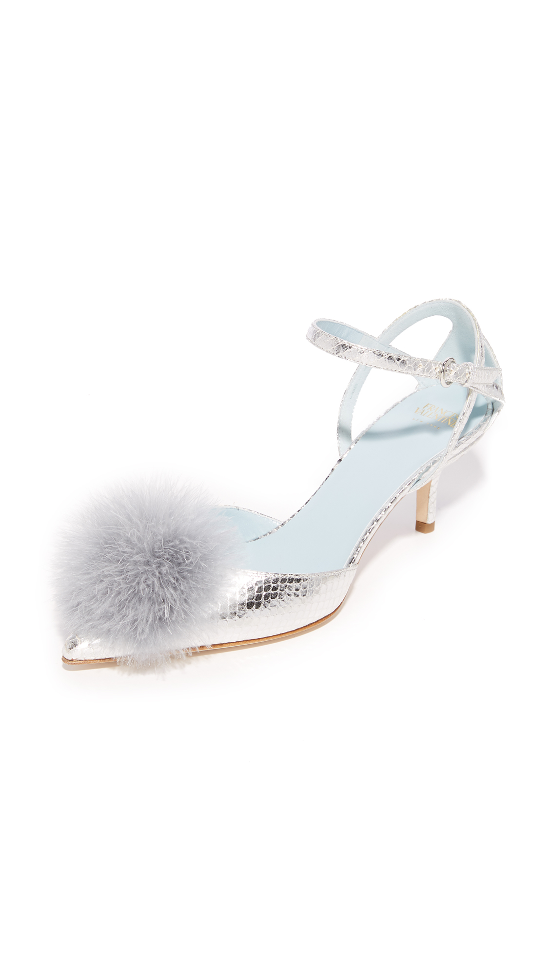 Frances Valentine Willow Pumps - Silver