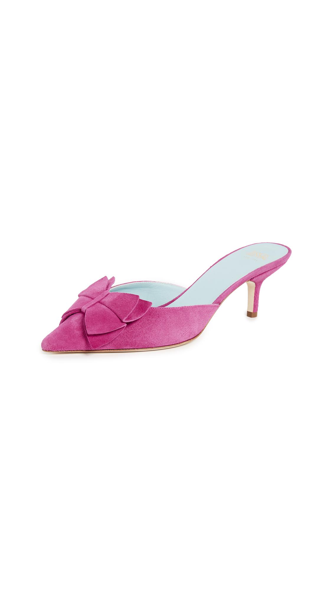 Frances Valentine Gigi Bow Mule - Shock Pink