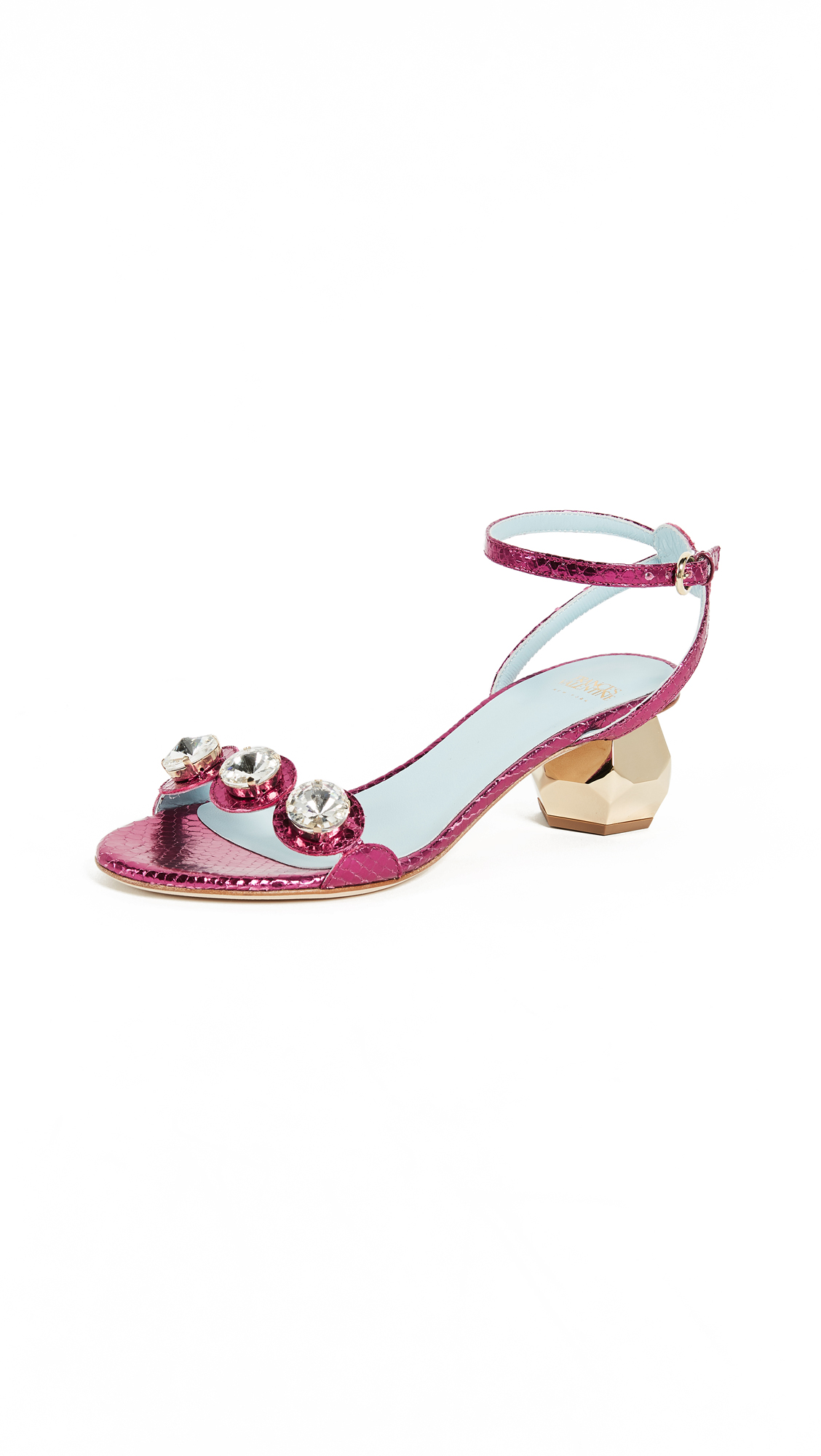 Frances Valentine Beatrix City Sandals - Fuchsia