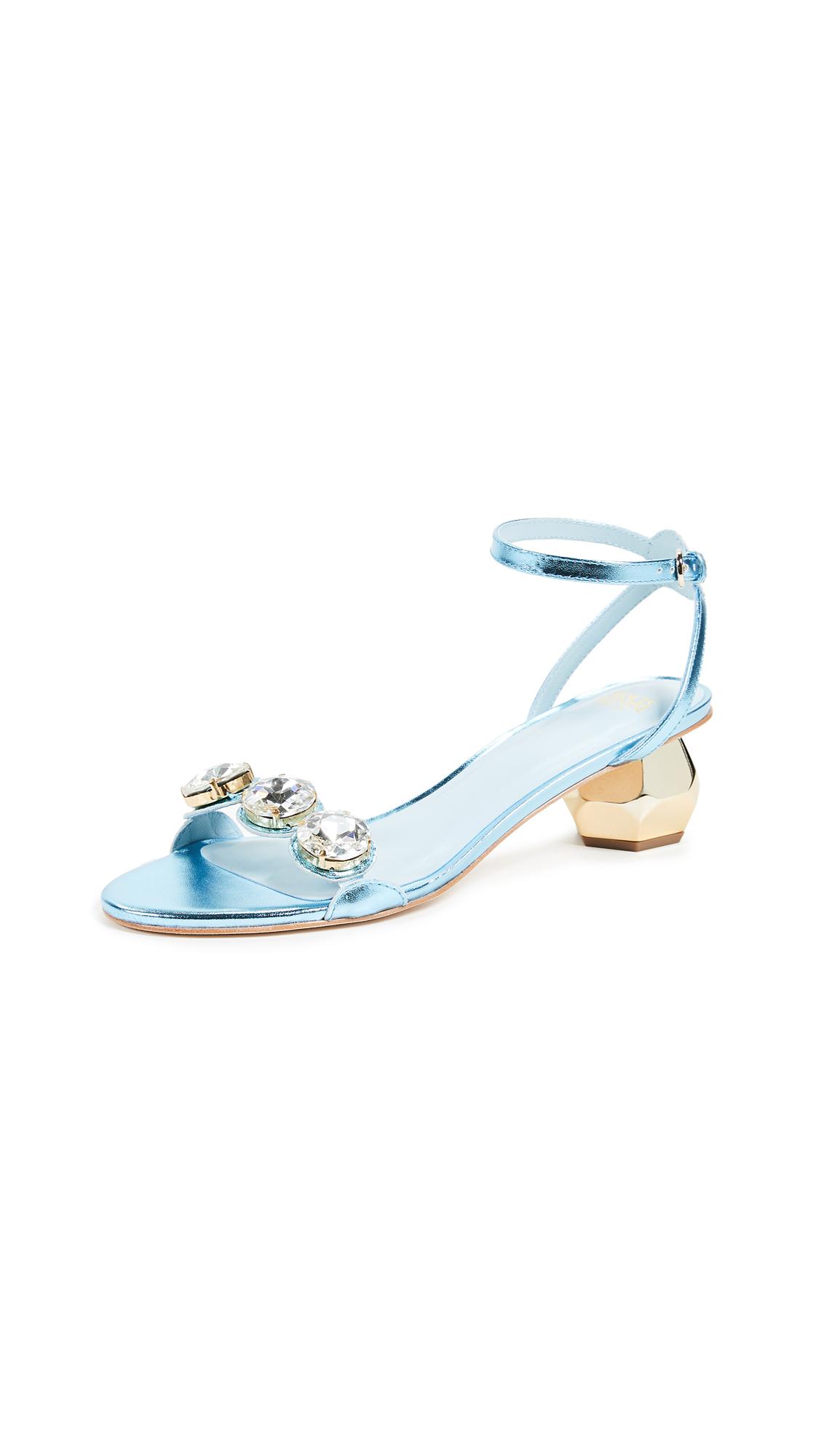 Frances Valentine Beatrix Sandals - Pale Blue