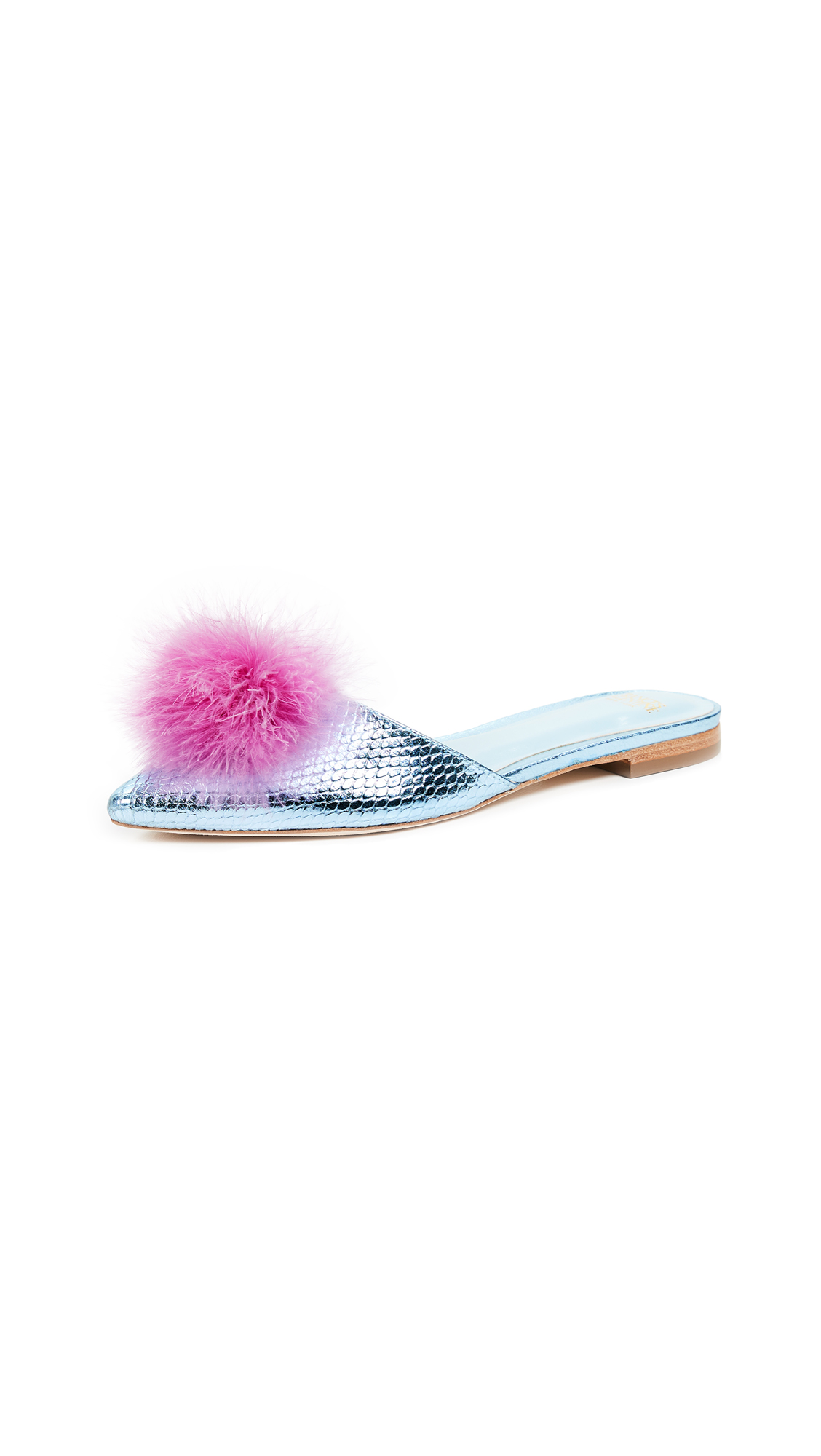 Frances Valentine Pauline Slides - Blue/Pink