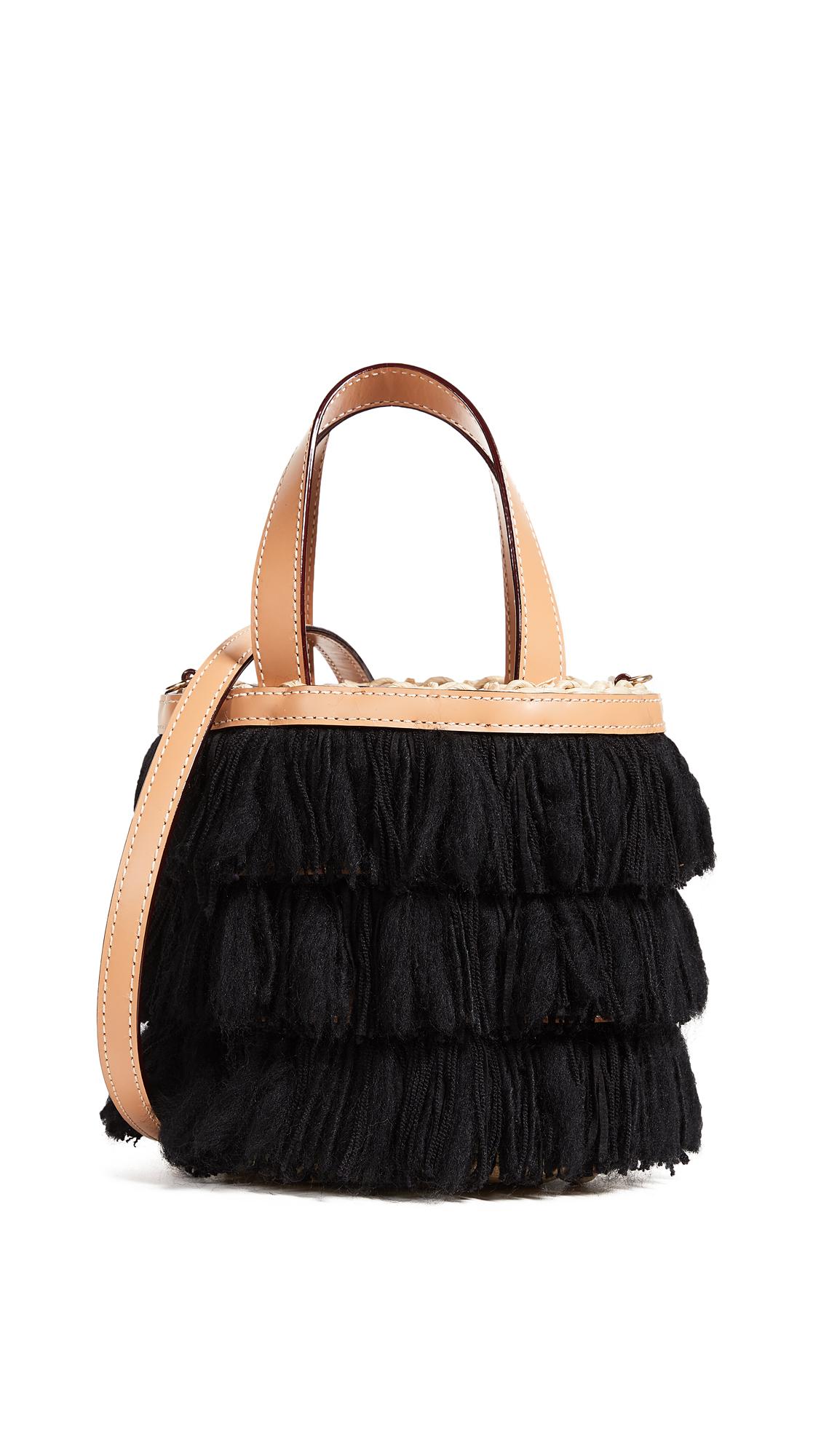 FRANCES VALENTINE SMALL FRINGE BUCKET BAG