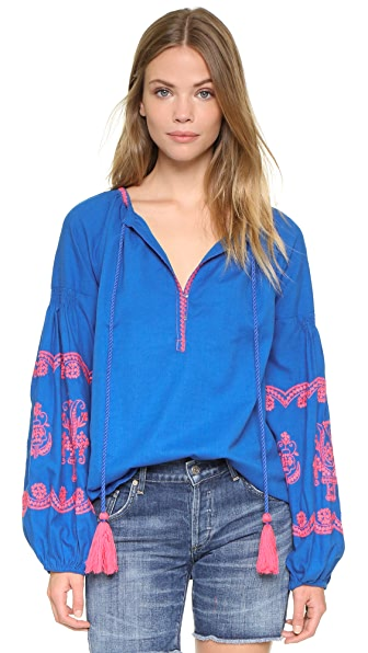Gallabia peru blue shirt shopbop