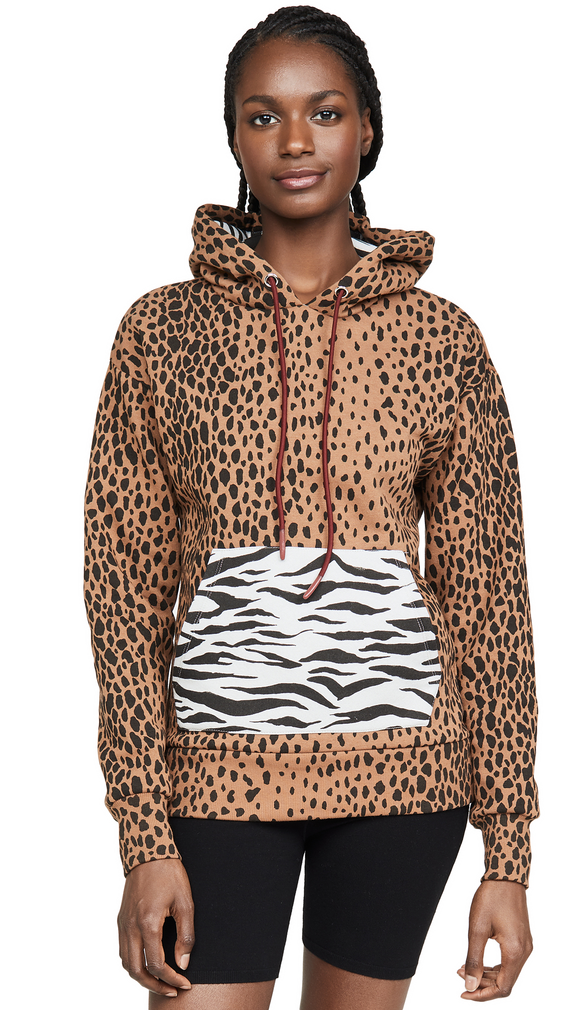 Buy Good American Active online - photo of Good American Active Mixed Animal Hoodie