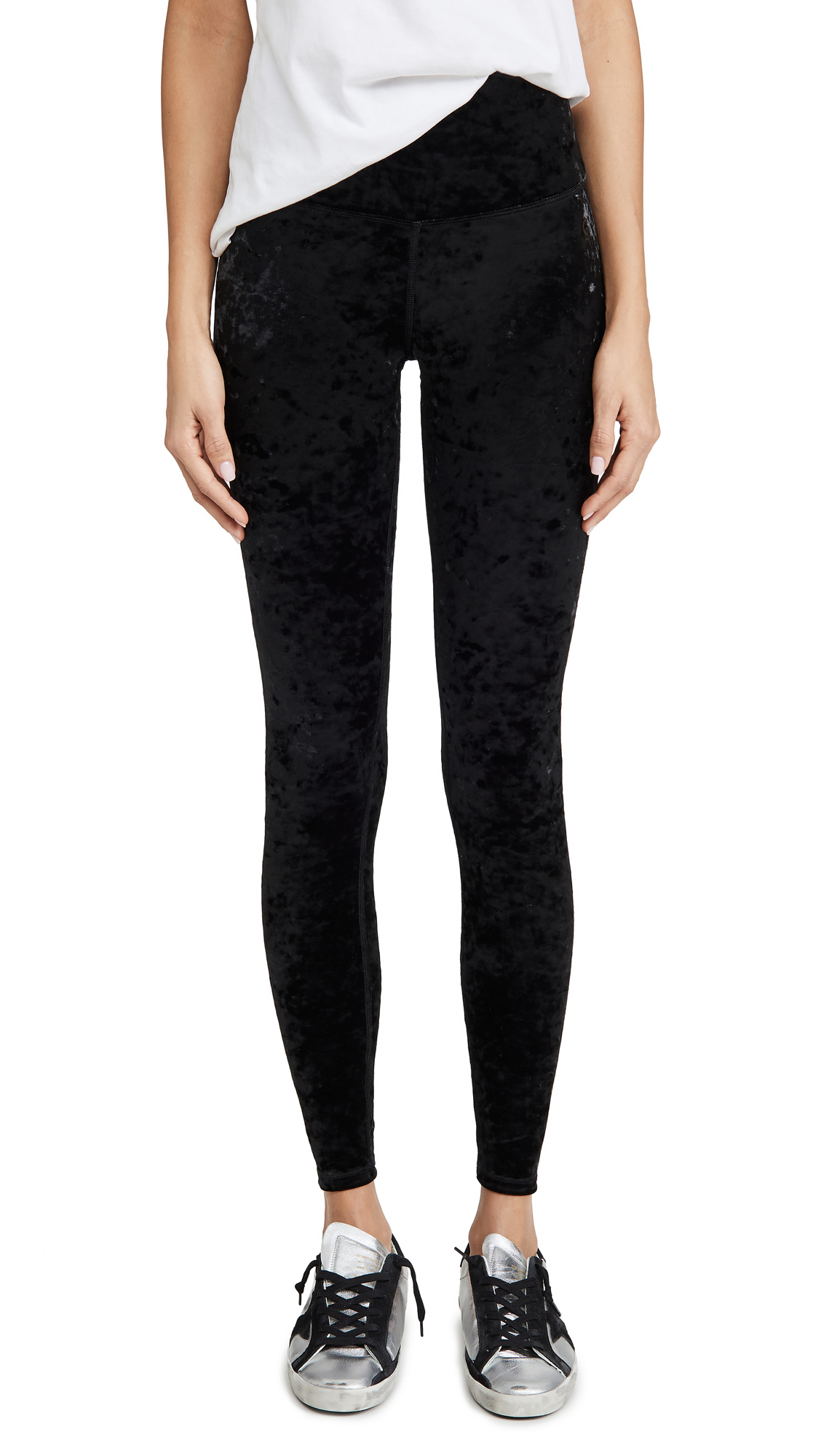 Buy Good American Active online - photo of Good American Active Crushed Velvet Long Leggings