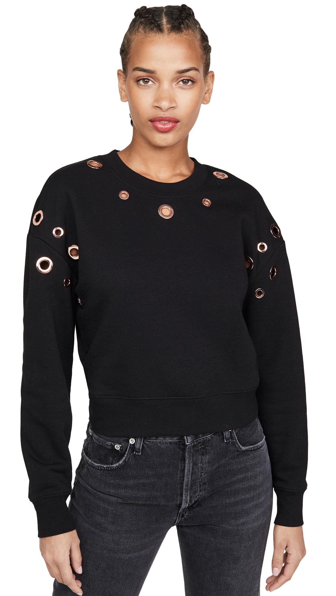 Buy Good American Active online - photo of Good American Active Grommet Sweatshirt