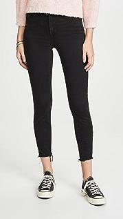 Good American Укороченные джинсы Good Waist с оборванным нижним краем