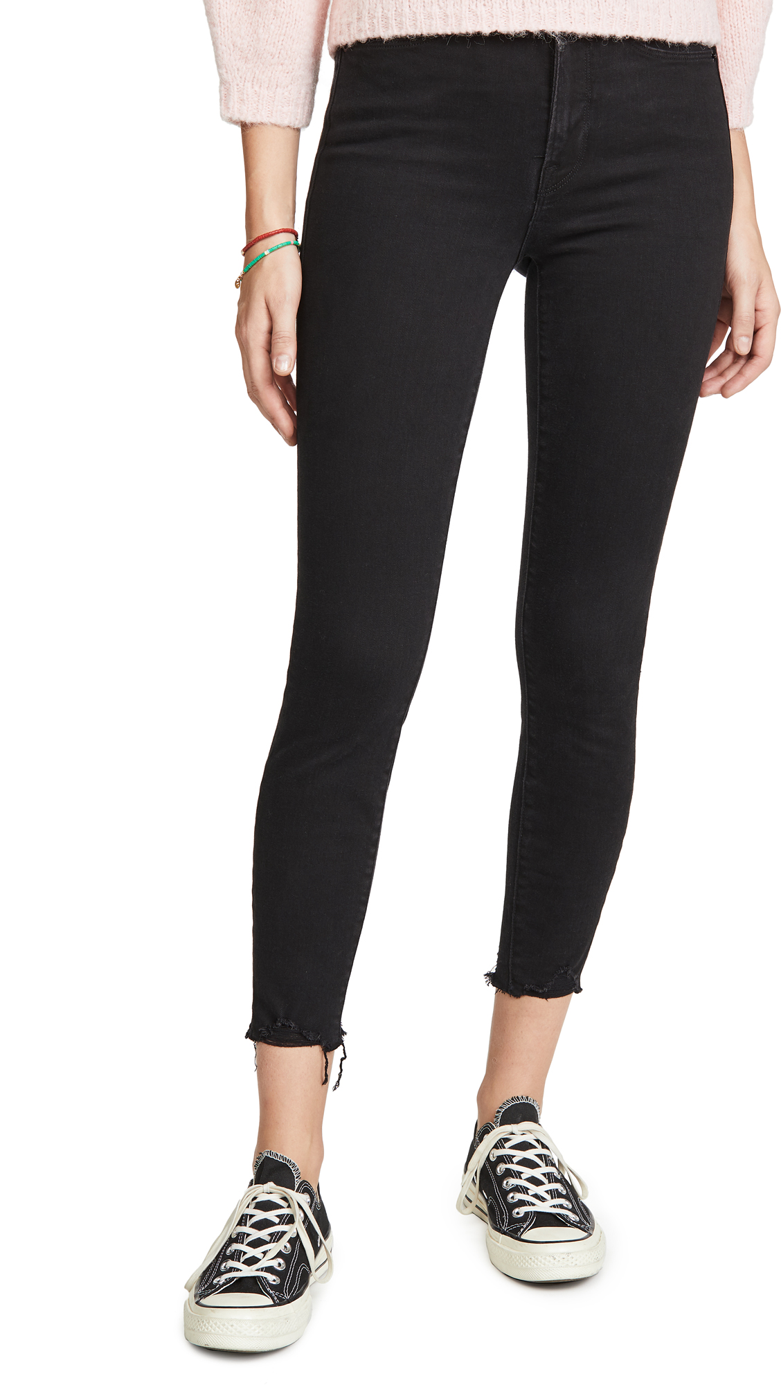Buy Good American online - photo of Good American Good Waist Crop Chewed Hem Jeans