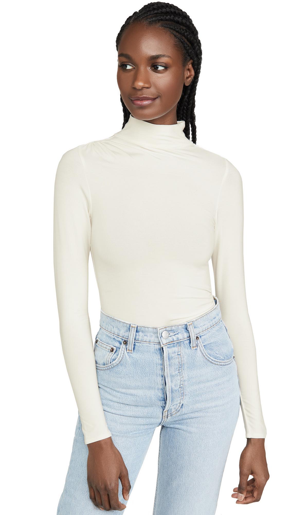 Buy Good American online - photo of Good American Ruched Turtleneck Thong Bodysuit