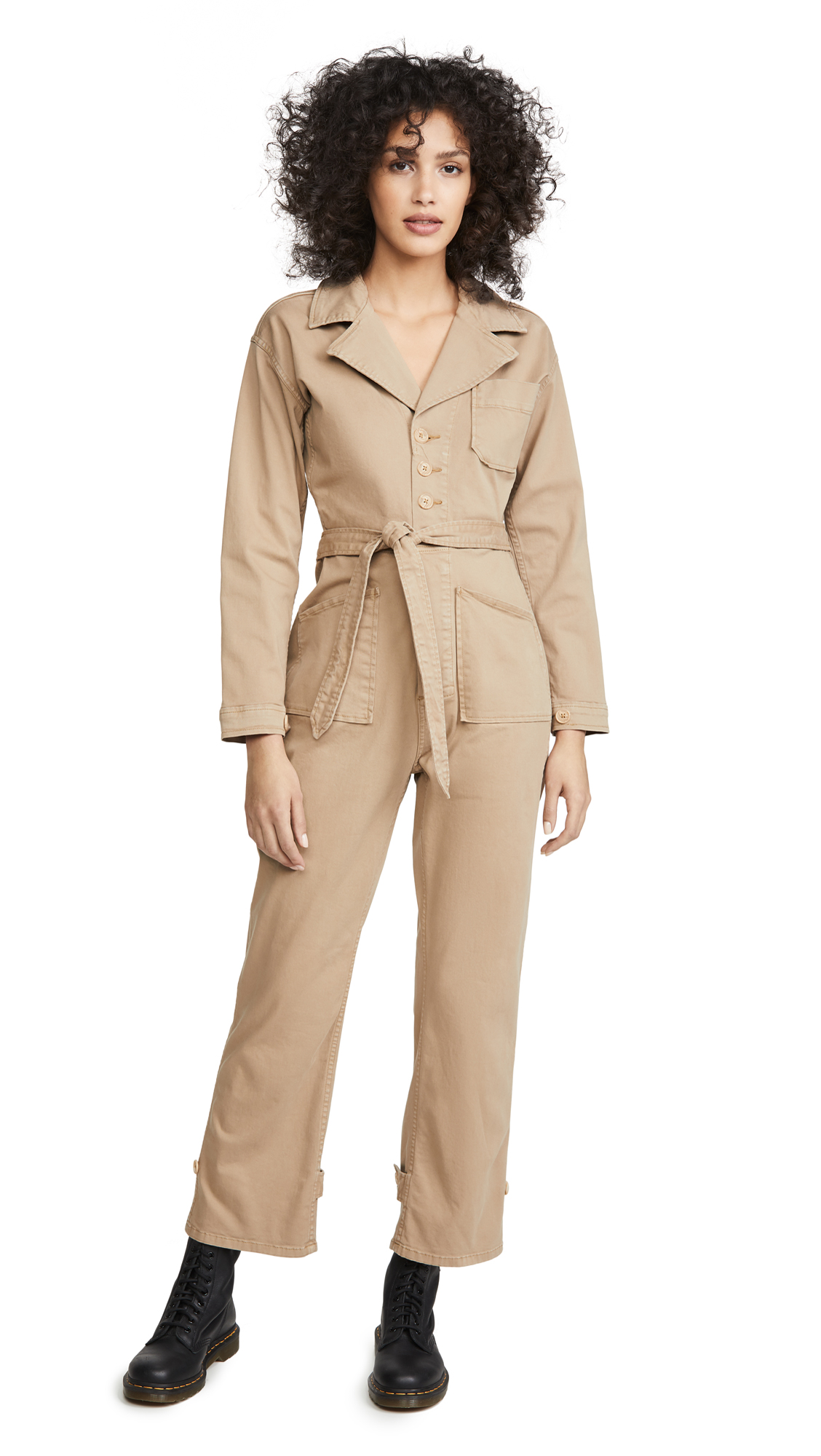 Buy Good American online - photo of Good American Khaki Jumpsuit