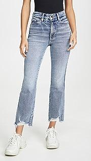 Good American Прямые джинсы Good Curve с потрепанным нижним краем