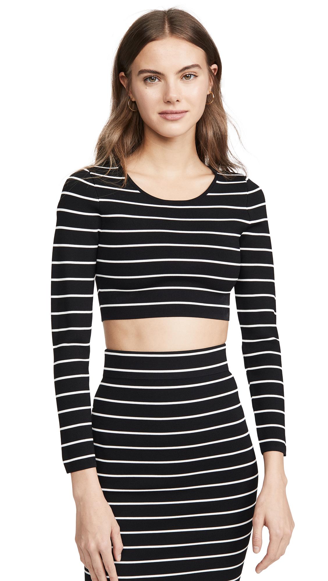 Buy Good American online - photo of Good American Stripe Crop Top