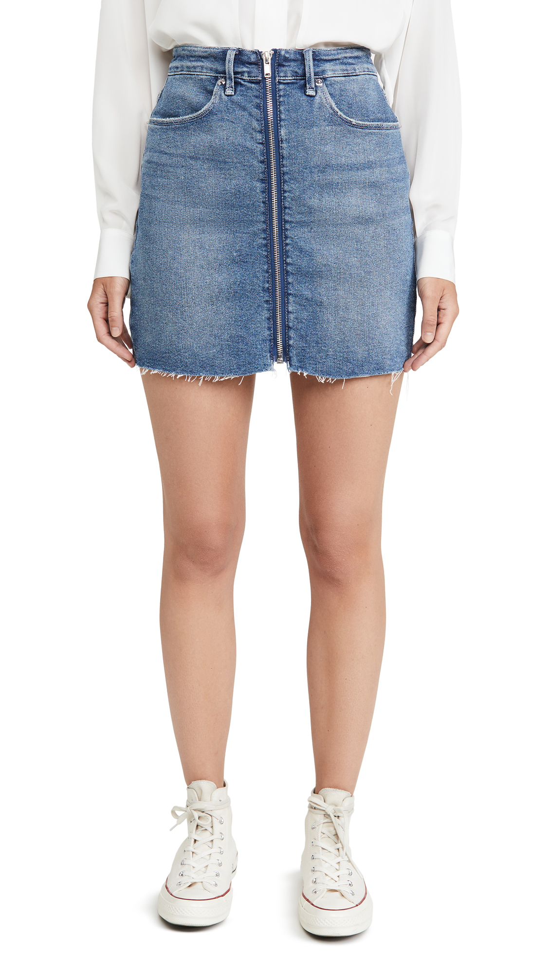Buy Good American online - photo of Good American Exposed Zip Miniskirt