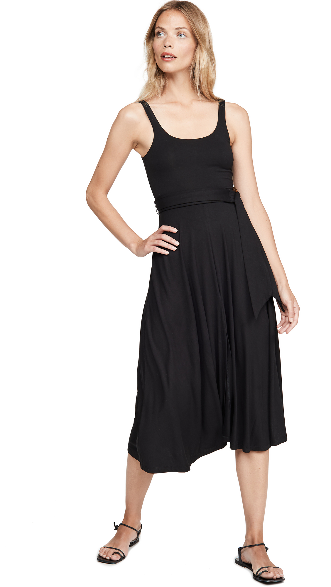 Buy Good American online - photo of Good American Belted Open Front Swing Tank Dress