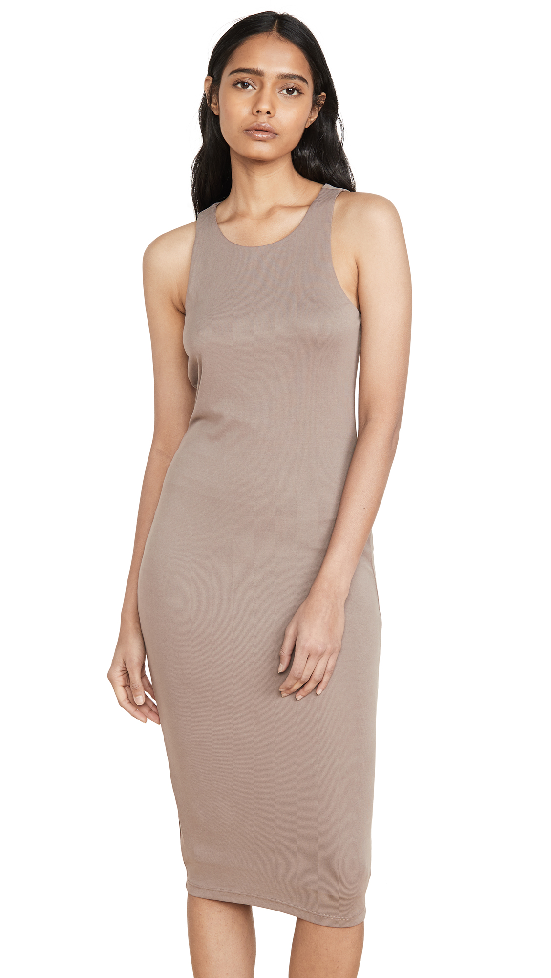 Buy Good American online - photo of Good American Micro Rib Mini Dress