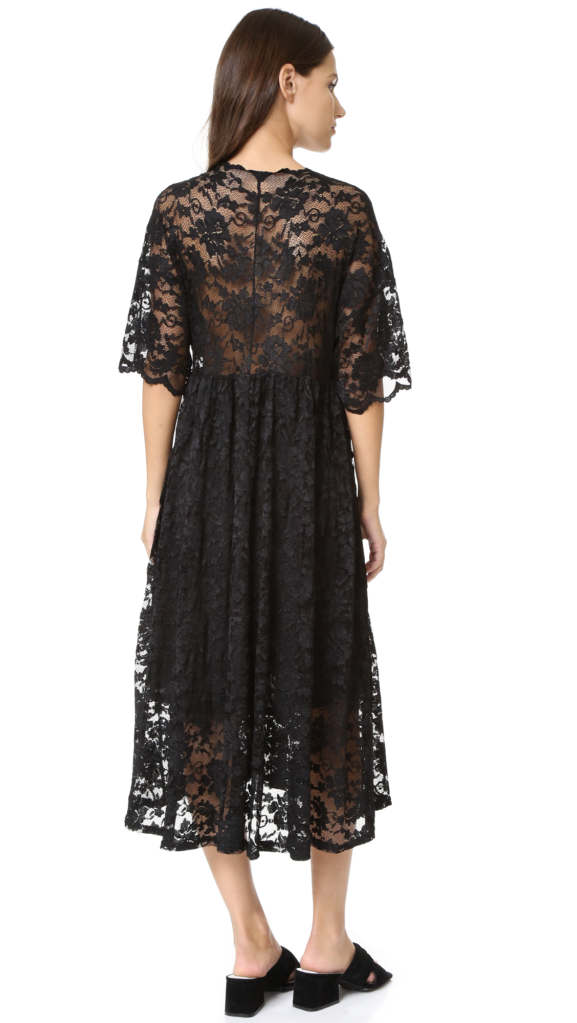 05667f02 GANNI Ayame Lace Deep V Dress | SHOPBOP